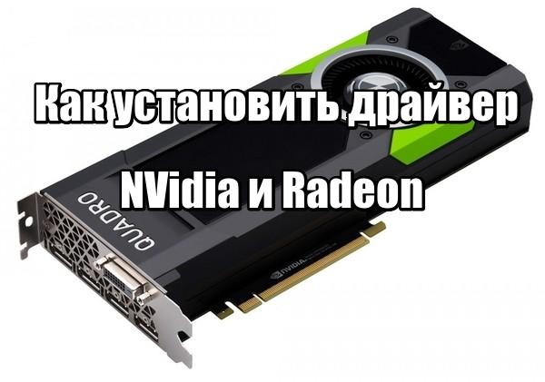 Как установить драйвер для видеокарт NVidia и Radeon? + видео
